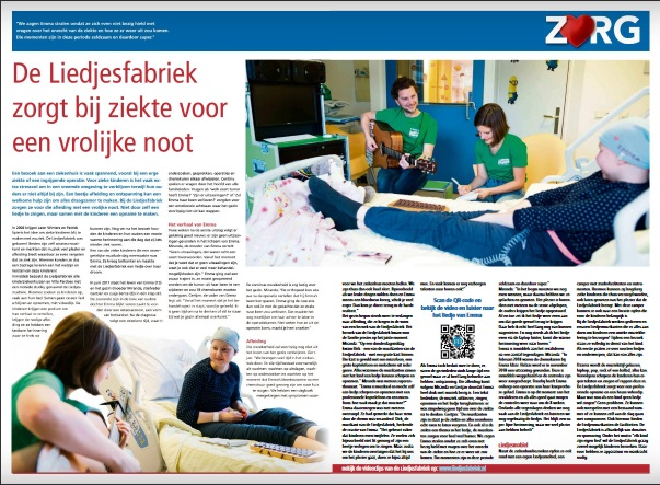 Publicatie Friesch Dagblad Liedjesfabriek