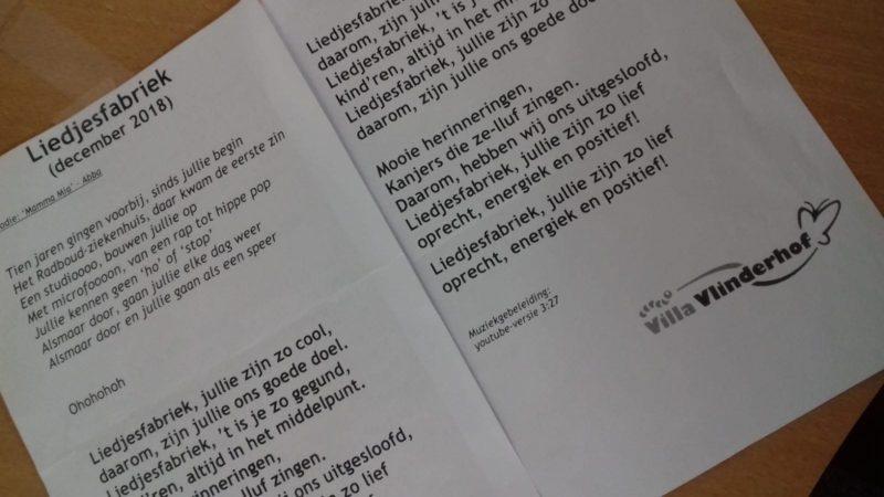 De rollen omgedraaid: Villa Vlinderhof zingt voor de Liedjesfabriek!